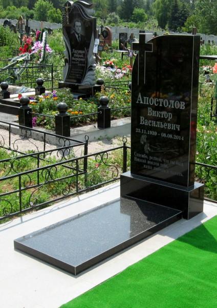Надгробие с цветником в спб Эконом памятник Арка с резным профилем Пласт